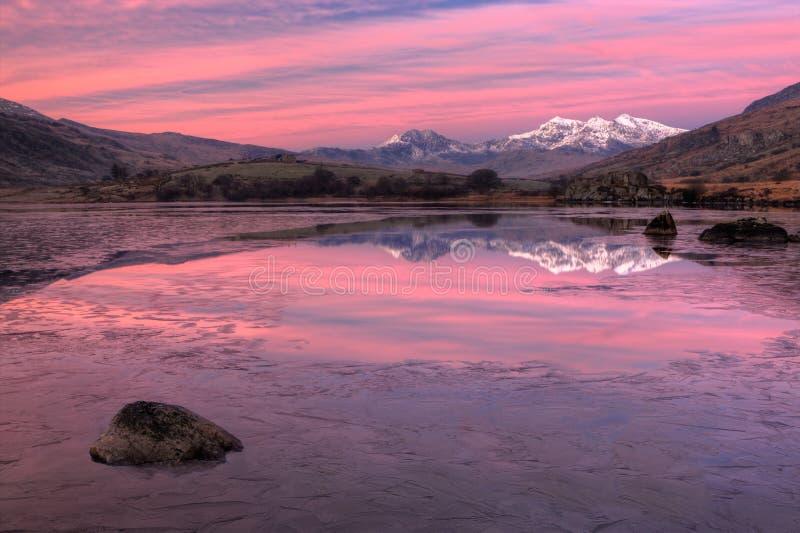 De Snowdon nascer do sol pre foto de stock royalty free