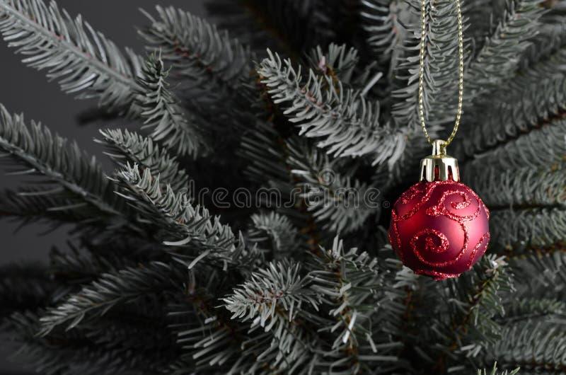 De Snuisterij van Kerstmis op Boom stock afbeelding