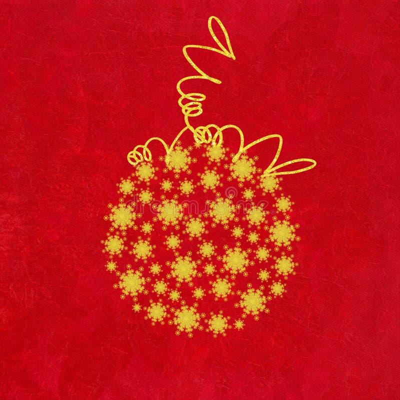 De Snuisterij van Kerstmis van Gouden Sneeuwvlokken vector illustratie