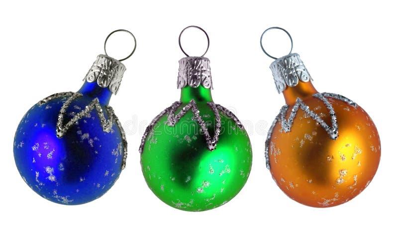 De snuisterijen van het Kerstmisglas royalty-vrije stock afbeeldingen
