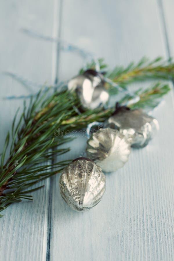 De snuisterijen van het Kerstmisglas royalty-vrije stock foto