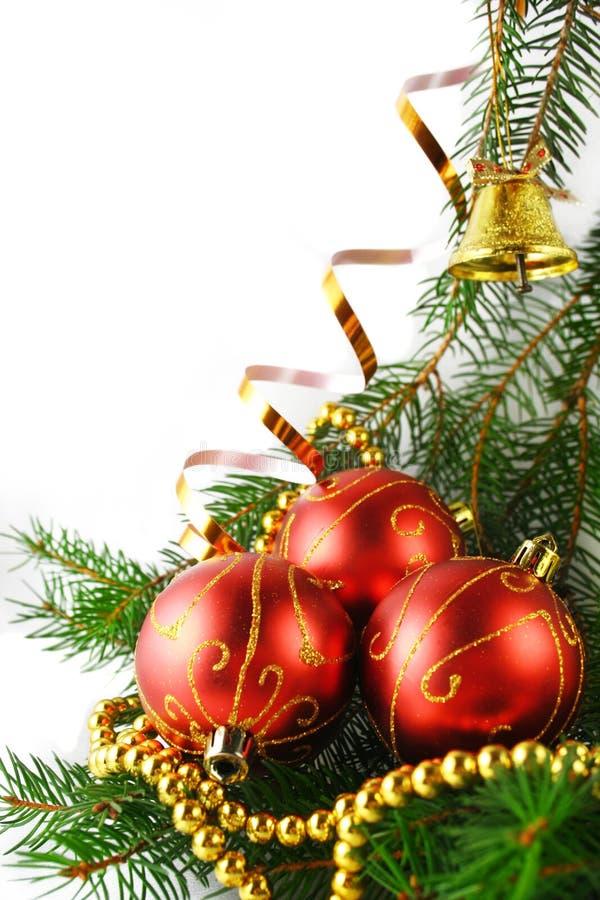 De snuisterijen van Kerstmis stock foto