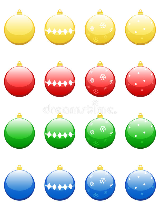 De Snuisterijen van Kerstmis stock illustratie