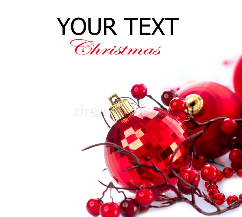 De Snuisterijen Van Kerstmis En Van Het Nieuwjaar Stock Afbeeldingen
