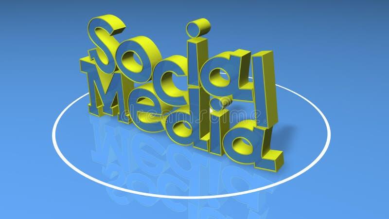 De sociale 3D titel van Media stock foto