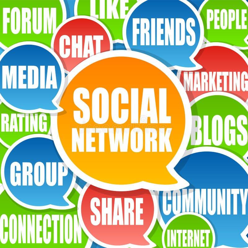 De sociale Achtergrond van het Netwerk royalty-vrije illustratie
