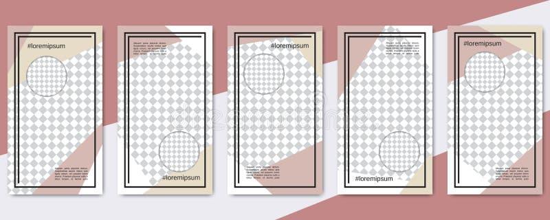 De in sociale editable vectormalplaatjes van netwerkverhalen stock illustratie