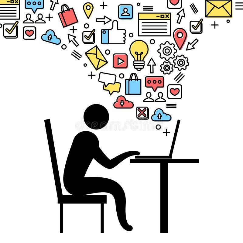 De sociale illustratie van het Voorzien van een netwerkconcept royalty-vrije illustratie
