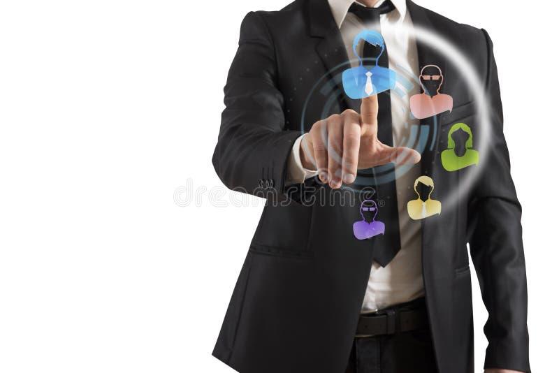 De sociale Interface van het Netwerk stock fotografie