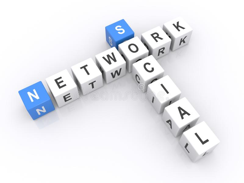 De sociale Kubussen van het Netwerk stock foto