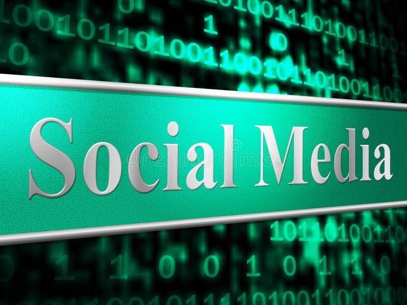 De sociale Media tonen Forums Internet en Web vector illustratie