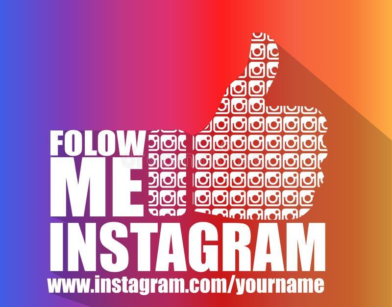 De sociale Media Vlakke Achtergrond van Instagram vector illustratie