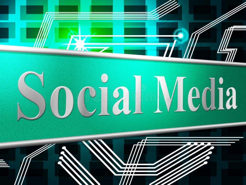 De sociale Media wijzen Nieuws op Voer en Blogging stock illustratie