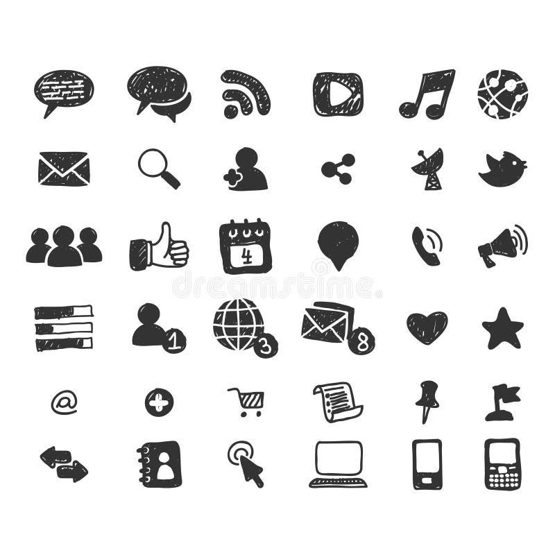 De sociale Pictogrammen van Media vector illustratie