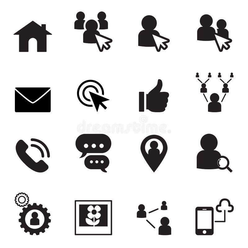 De sociale reeks van het netwerkpictogram royalty-vrije illustratie