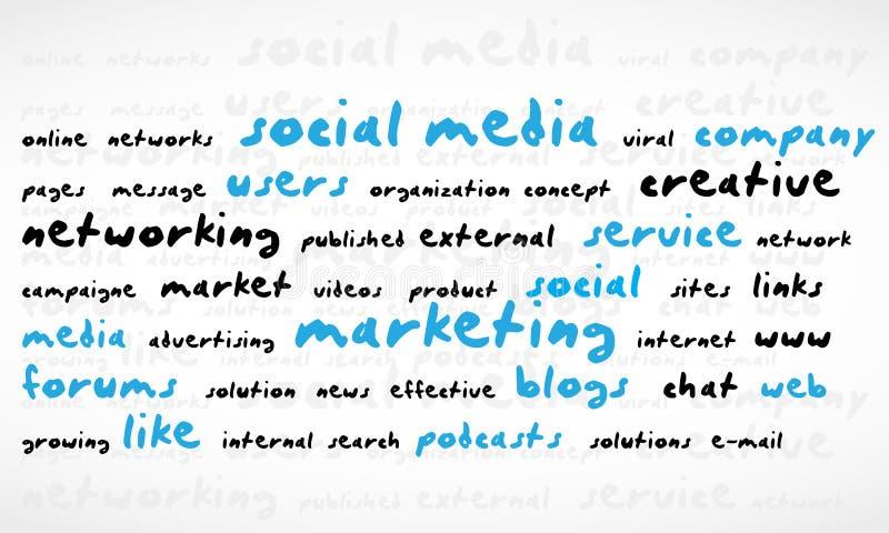 De sociale Wolk van Word van Media vector illustratie