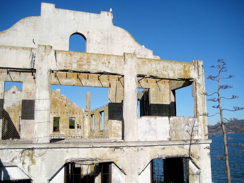 De Sociale Zaal van Alcatraz-gevangenis (Californië, de V.S.) royalty-vrije stock fotografie