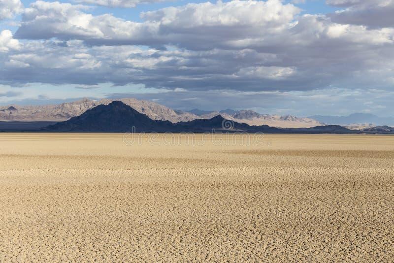 De Soda Droog meer van het Mojave Nationaal Domein stock foto