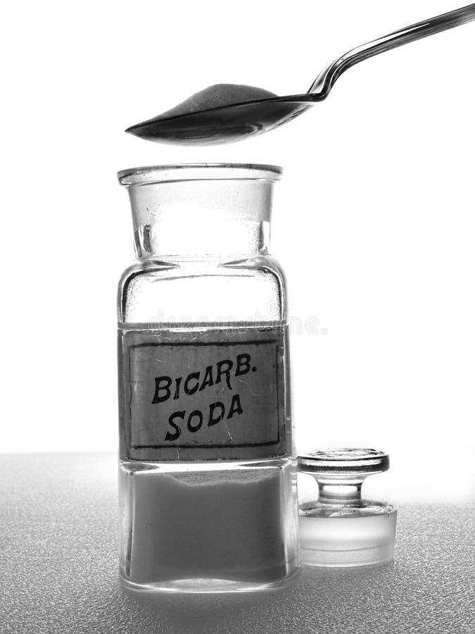 De Soda van Bicarb van de apotheek royalty-vrije stock foto's