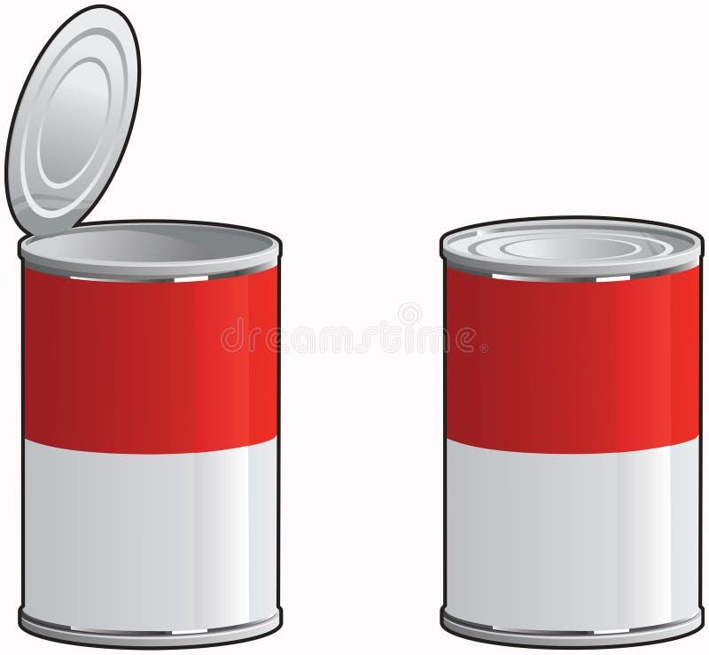 De soep kan vector illustratie