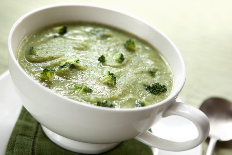 De Soep van broccoli royalty-vrije stock afbeeldingen