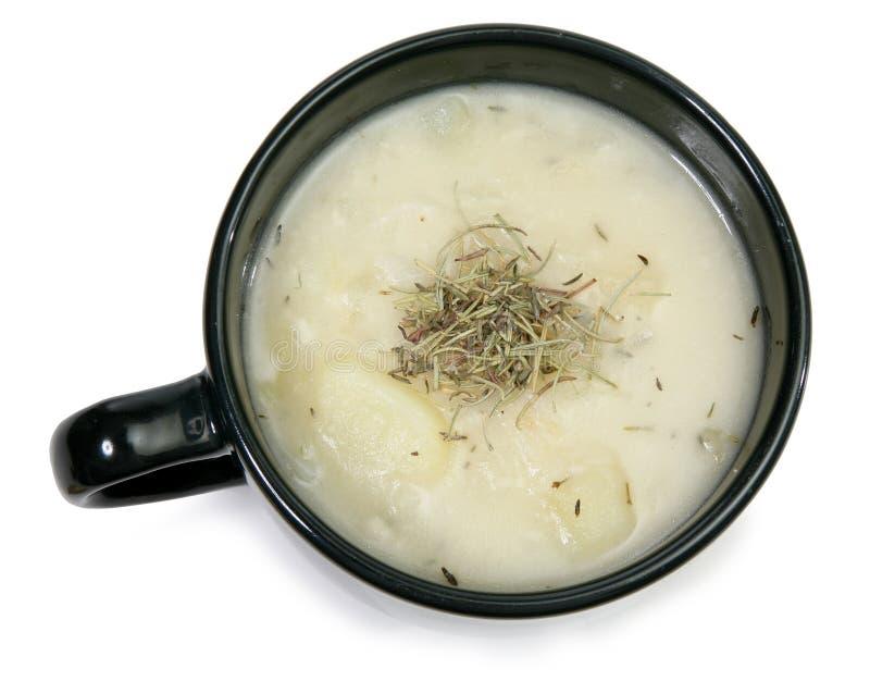 De Soep van de Aardappel van het kruid royalty-vrije stock foto's