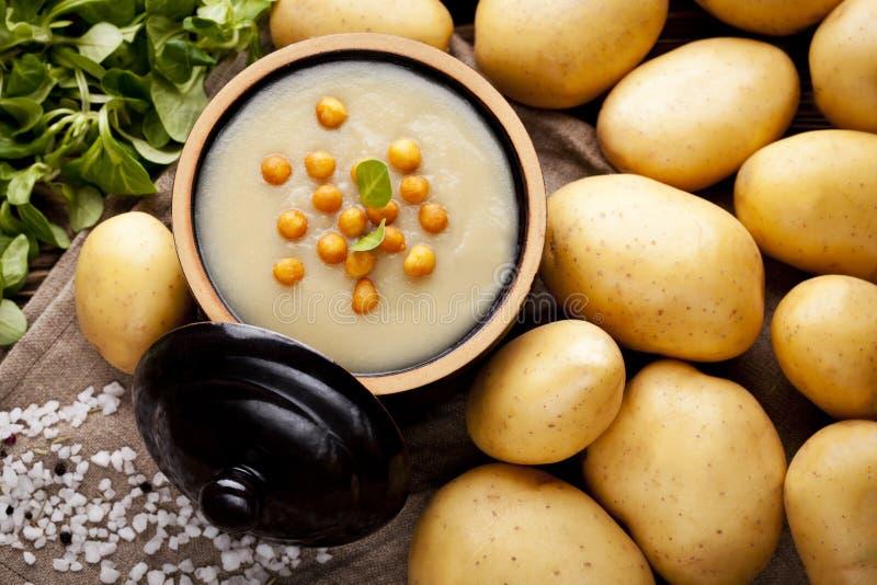 De soep van de aardappelroom royalty-vrije stock foto