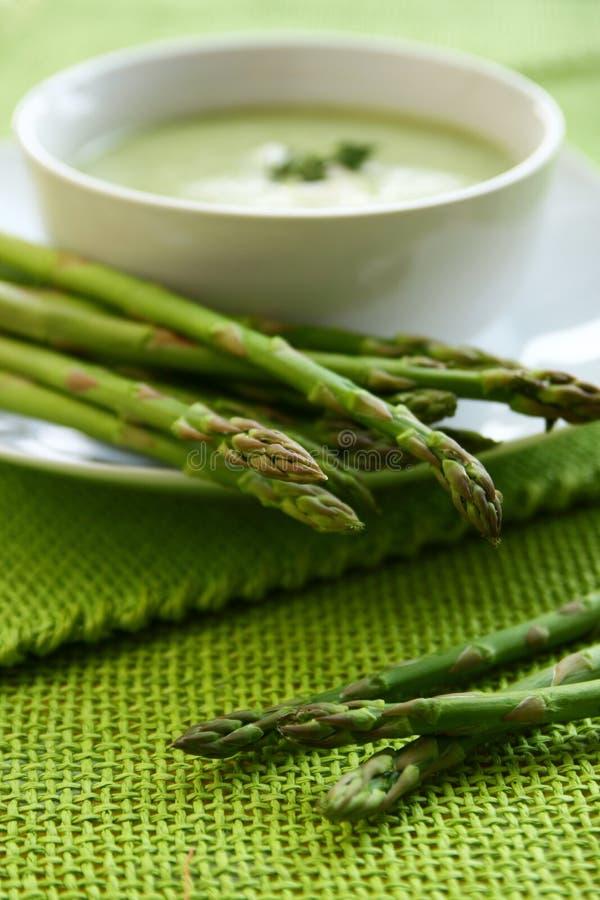 De soep van de asperge stock afbeelding