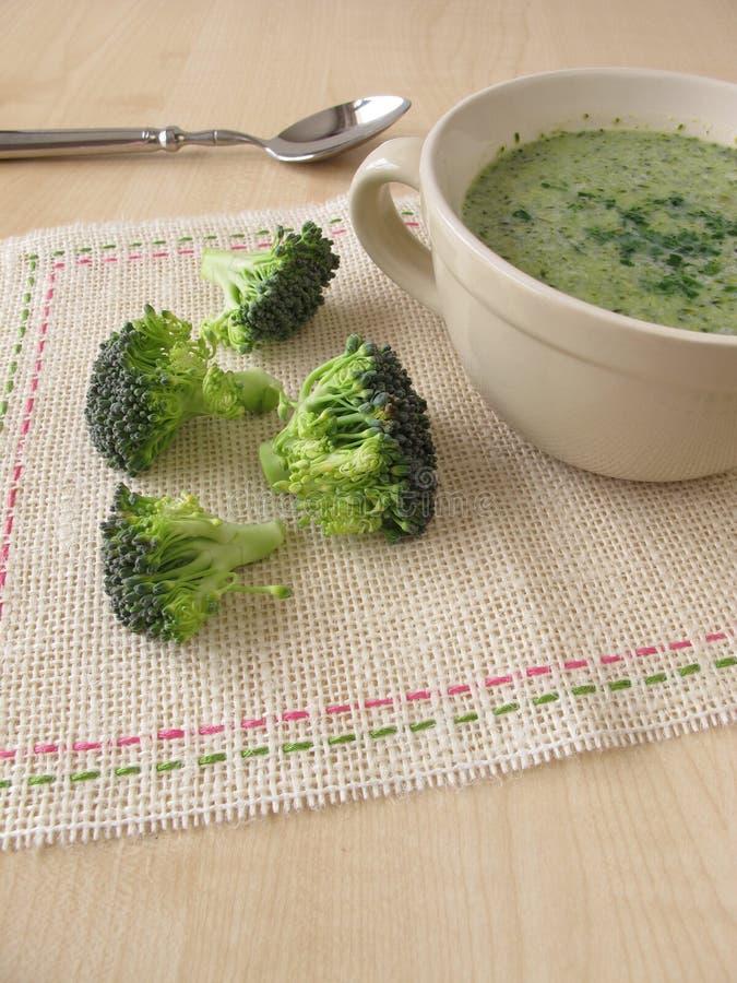 De soep van de broccoliroom stock foto's