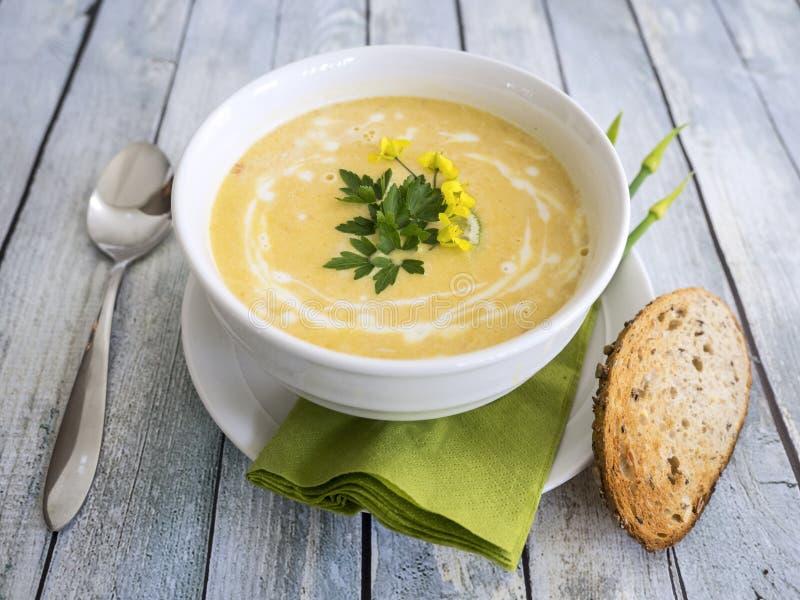 De soep van de Butternutpompoen royalty-vrije stock afbeelding