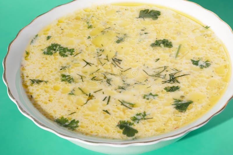De soep van de kaas stock afbeelding