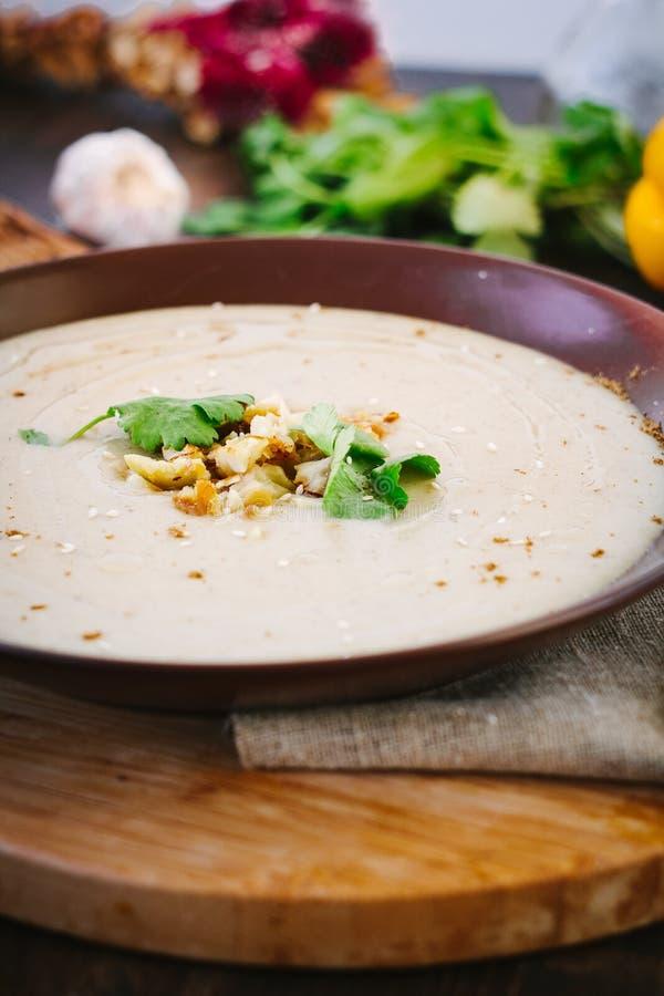 De soep van de kastanjeroom royalty-vrije stock foto's