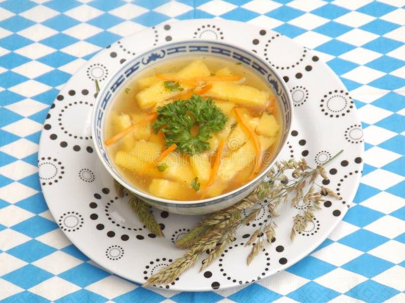 De soep van de kip stock fotografie