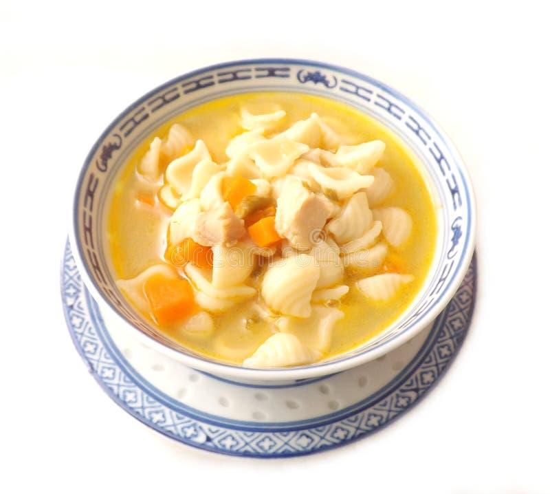 De soep van de kip met noedels royalty-vrije stock afbeelding