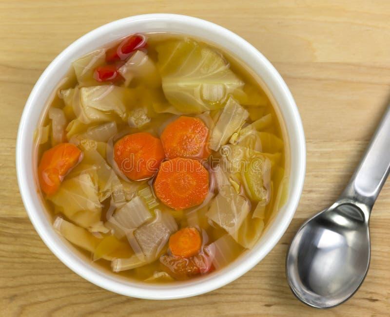 De soep van de kool stock foto's