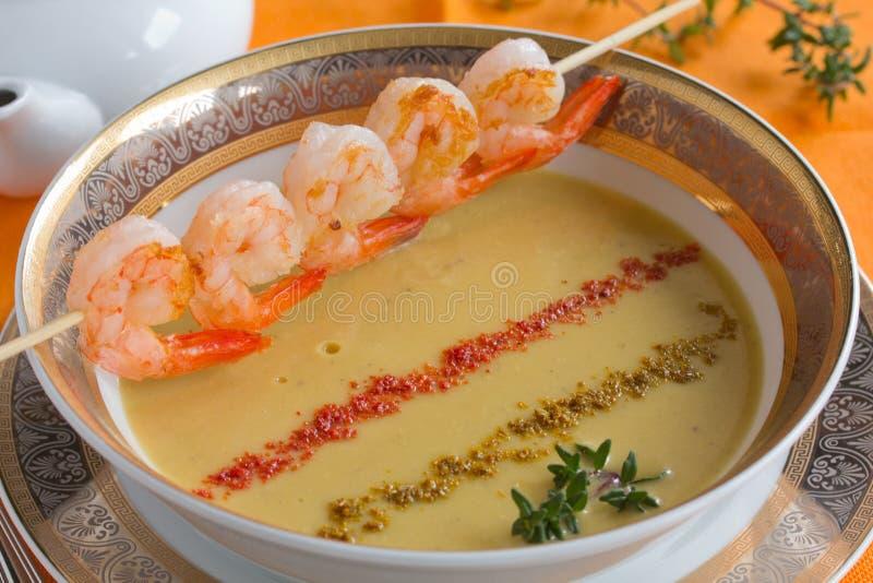 De soep van de linze. stock foto