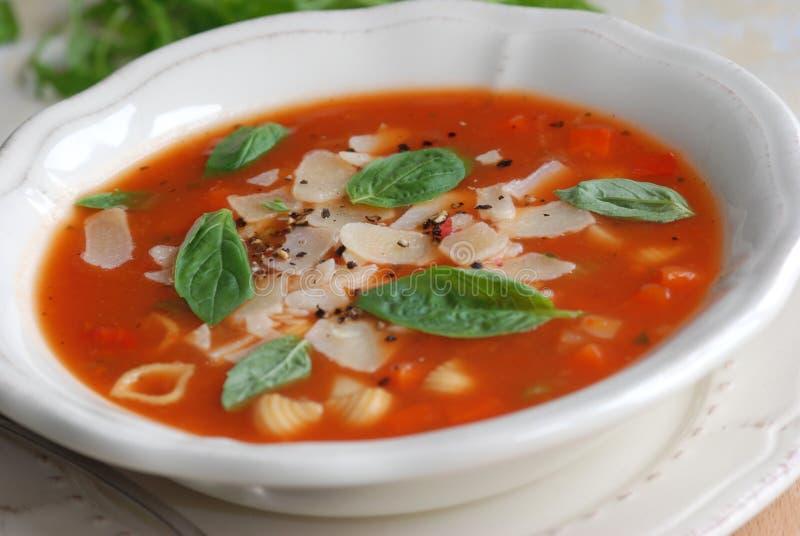 De soep van de minestrone royalty-vrije stock afbeeldingen