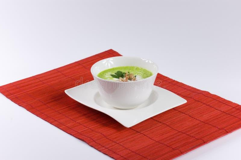 De soep van de peterselie stock foto's