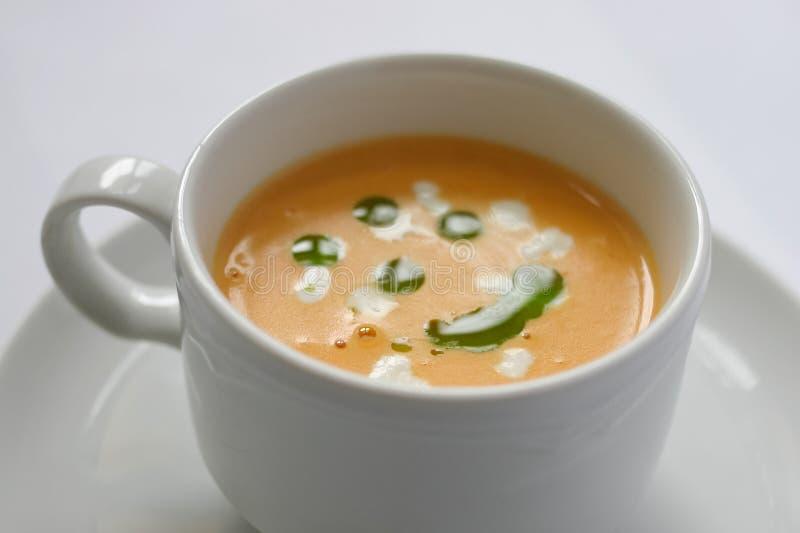 De soep van de pompoen royalty-vrije stock foto