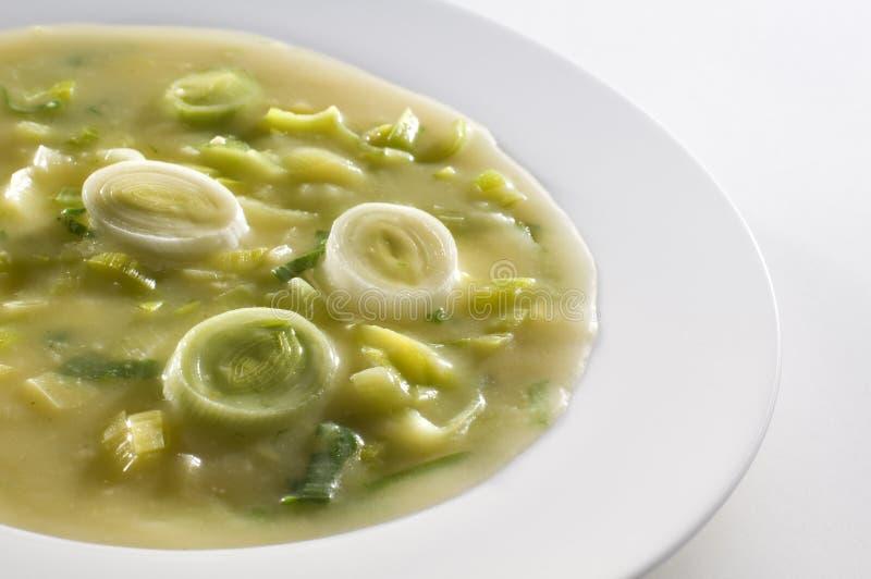 De soep van de prei royalty-vrije stock afbeelding