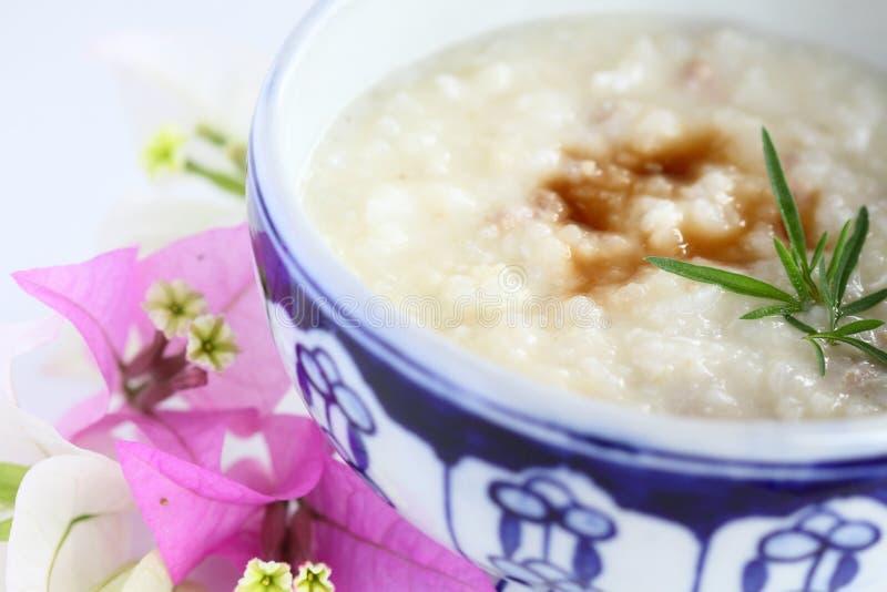 De soep van de rijst stock foto