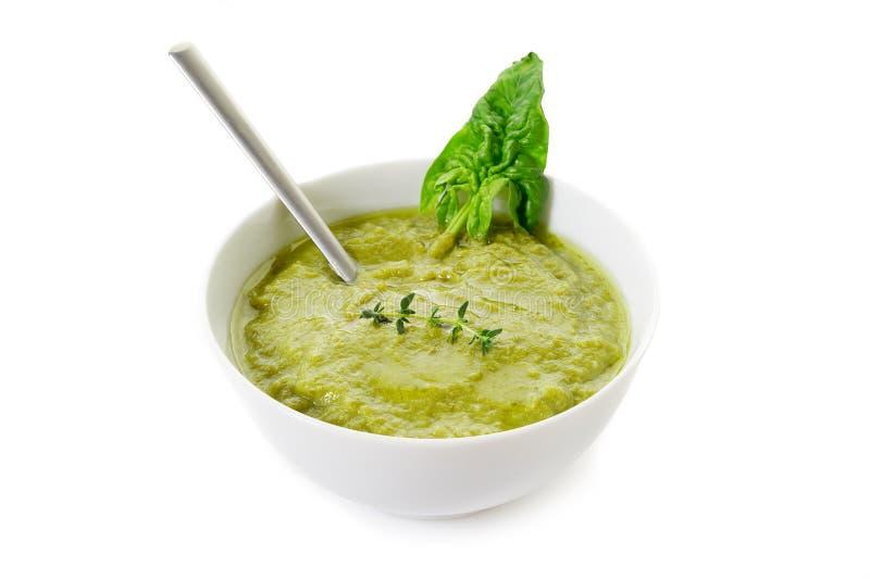 De soep van de spinazie royalty-vrije stock foto