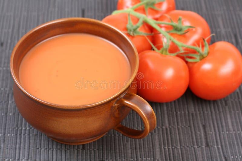 De soep van de tomaat stock foto