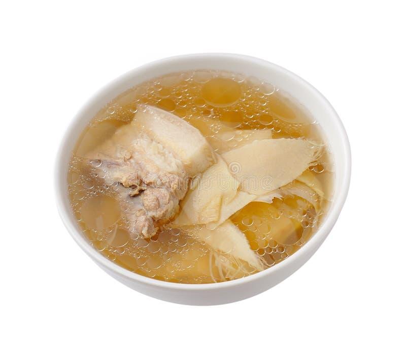 De soep van de varkensvleesrib met bamboespruiten royalty-vrije stock foto's