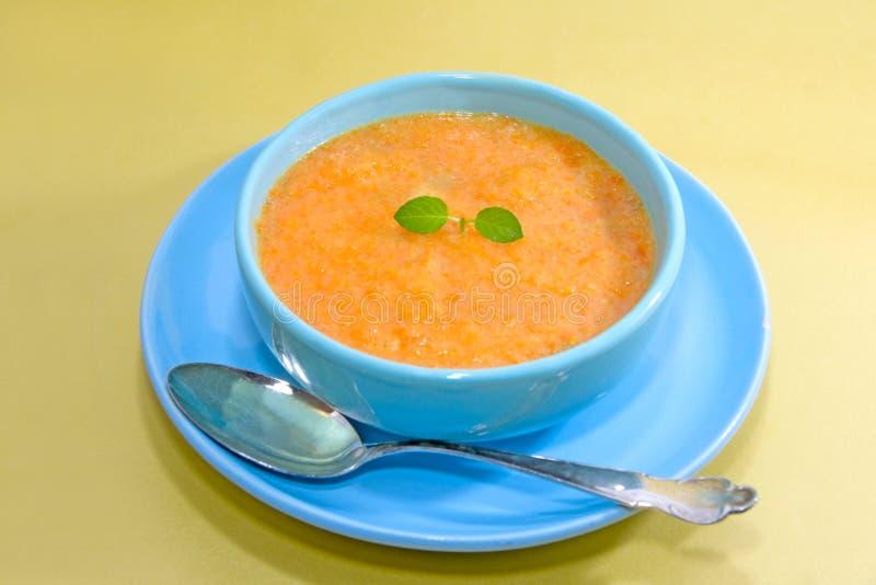De soep van de wortel royalty-vrije stock foto