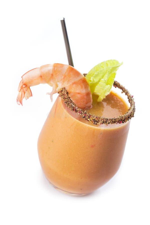 De soep van de zeevruchtenroom op wit wordt geïsoleerd dat stock fotografie