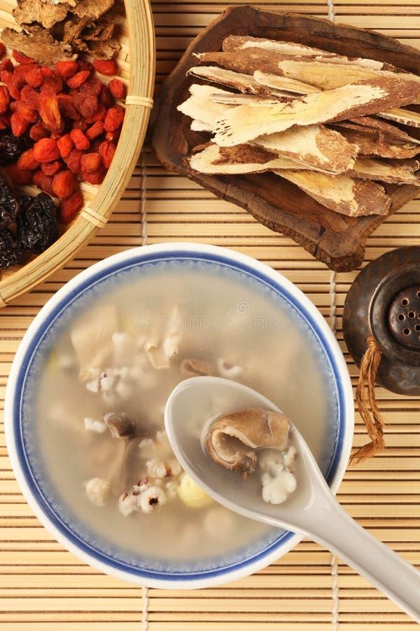 De soep van het vier aromakruid stock foto's