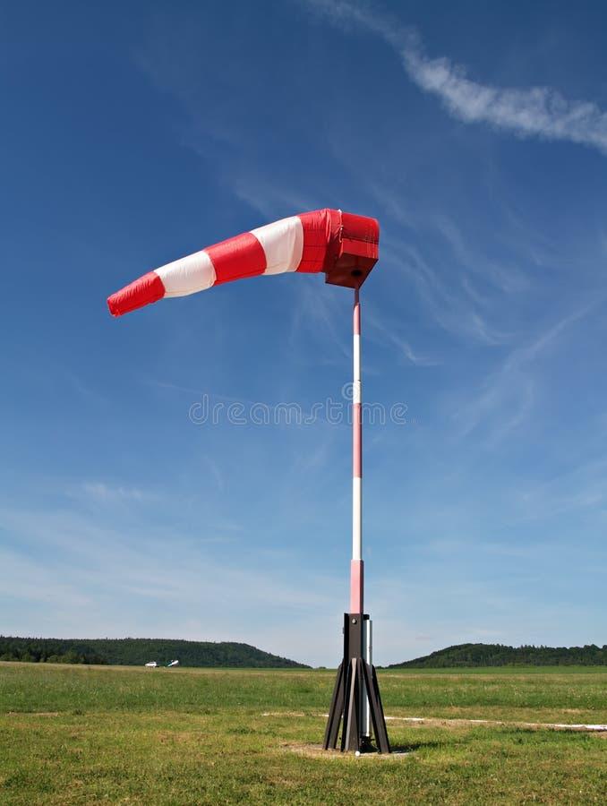 De sok van de wind stock foto