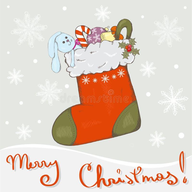 De sok van Kerstmis vector illustratie