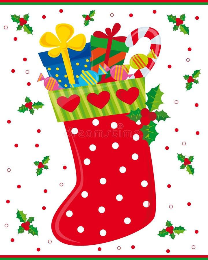 De sok van Kerstmis royalty-vrije illustratie